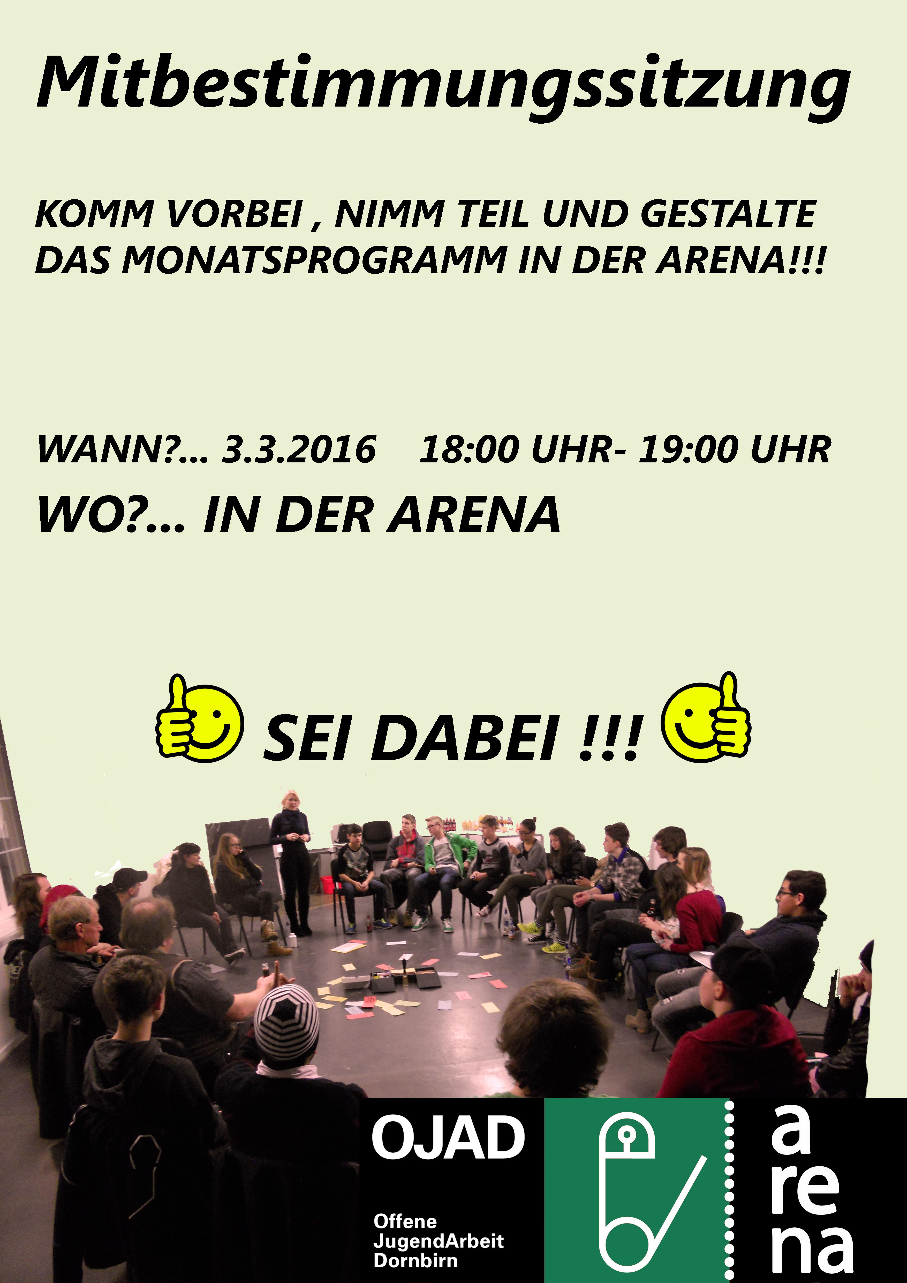 Arena Mitbestimmungssitzung 2